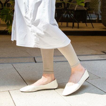 【Tabio】薄手のコットンレギンス10分丈/靴下屋タビオTabioソックス靴下ストッキングレギンススパッツレディースタイツカラータイツトレンカストッキング
