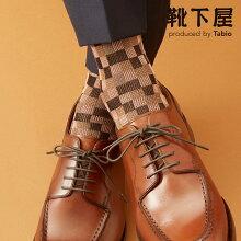 【TabioMEN】メンズリンクスブロックソックス/靴下屋靴下タビオくつ下クルーメンズ日本製