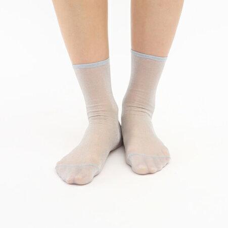 【Tabio】ジョーゼット風ソックス/靴下屋靴下タビオくつ下ショートチュールシースルーレディース日本製