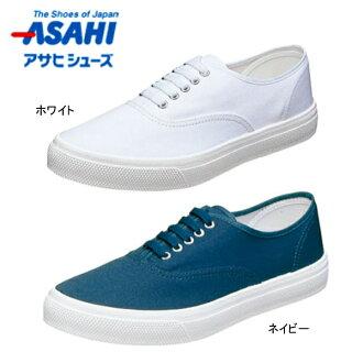 朝日鞋asahi甲板21EC女士人帆布运动鞋甲板鞋鞋工作鞋轻量防水日本制造2E○