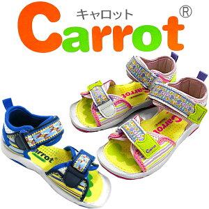 サンダル キッズ 女の子 キャロット スポーツサンダル[CR C2035]carrot[14-21cm] ジュニア 子供 サンダル すぽーつ さんだる きっず kids sandal ●【502LFLG-14jhd】