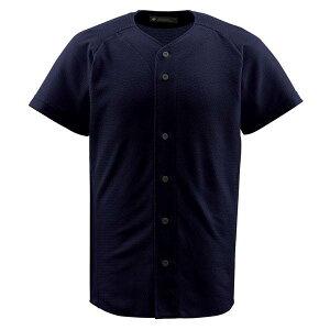デサント(DESCENTE)フルオープンシャツブラック(ds-db1010-blk) メンズ 野球 ソフトボール シャツ 半袖 大きいサイズ 小さいサイズ ボタン