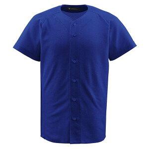 デサント(DESCENTE)フルオープンシャツロイヤル(ds-db1010-roy) メンズ 野球 ソフトボール シャツ 半袖 大きいサイズ 小さいサイズ ボタン ブルー 青