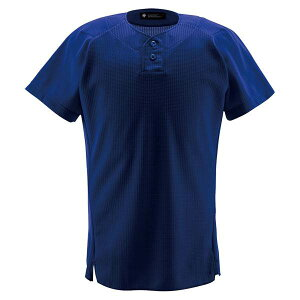 デサント(DESCENTE)ユニフォームシャツハーフボタンシャツロイヤル(ds-db1012-roy) メンズ 野球 ソフトボール 練習用 シャツ 半袖 大きいサイズ 小さいサイズ ボタン ブルー 青