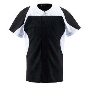デサント(DESCENTE)ユニフォームシャツカラーコンビネーションシャツ(フルオープン)DB-1014(ds-db1014-nvsw) メンズ 野球 ソフトボール 練習用 シャツ 半袖 大きいサイズ 小さいサイズ ボタン