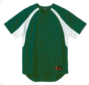 デサント(DESCENTE)ユニフォームシャツカラーコンビネーションDグリーン(ds-db48m-dgrn) メンズ レディース 野球 ソフトボール 練習用 シャツ 半袖 大きいサイズ 小さいサイズ ドライ 通気性