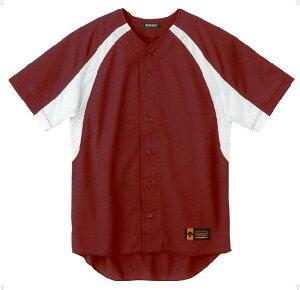 デサント(DESCENTE)ユニフォームシャツカラーコンビネーションエンジ×Sホワイト(ds-db48m-eng) メンズ レディース 野球 ソフトボール 練習用 シャツ 半袖 大きいサイズ 小さいサイズ ドライ 通