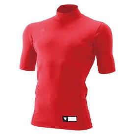 デサント(DESCENTE)ハイネック半袖リラックスFITシャツレッド(ds-std705-red)