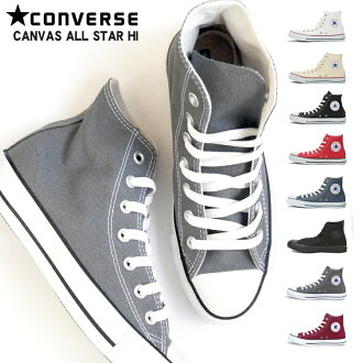 Converse CONVERSE all-stars higher frequency elimination point 12 times CANVAS ALL STAR HI men gap Dis sneakers black and white red dark blue Japan authorized agent product Converse canvas all-stars CONVERSE ALL STAR HI ●