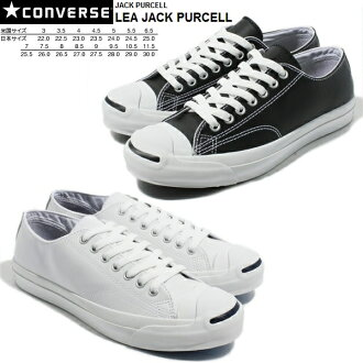 CONVERSE Converse Jack Pursel leather men gap Dis sneakers black and white ○ point 12 times
