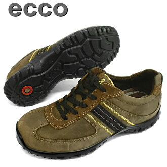 """Only as for one pair of remainder! 25.0cm ecco 48734 [stone / stone] wide 3E, genuine leather! Men's comfort shoes ●"