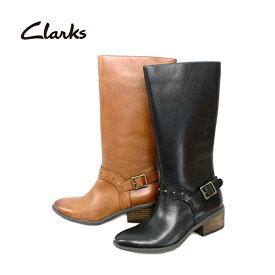 クラークス Clarks ロングブーツ [327F] 本革 レディース ロングブーツ【NHNH-13fhc】【4of】● 【16FBoff】【RE】 ロング丈 革 レザー ブーツ ブラック 黒 キャメル レディース靴 おしゃれ 履きやすい ファスナー付き 22.0cm 22.5cm 23.0cm 23.5cm 24.0cm 24.5cm