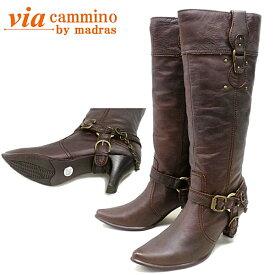 ヴィア カミーノ ブーツ via cammino VCL9724 チェーン&ベルト付き ロングブーツ レディース ●【**NL】