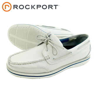 ●ROCKPORT lock port 2664Q BAY SHORE WASHABLES bay shore washable men deck shoes moccasins [white]