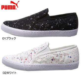 朴我的签证懒汉鞋磁振PUMA IBIZA SLIP-ON SPLATTER 359441女子的鞋运动鞋懒汉鞋彪马PUMA运动鞋 ●
