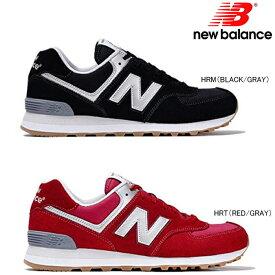 ニューバランス 574 New Balance メンズ レディース スニーカー ML574 正規品 靴 カジュアル 普段履き おしゃれ メンズ靴 レディース靴 黒 赤 スエード スウェード 25.0cm 26.0cm