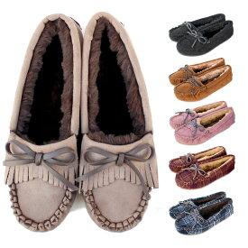 モカシンシューズ レディース モカシン ファー 内ボア レディース ムートン ローファー モカシン シューズ ファー 靴 暖かい靴 可愛いモコモコ パンプス