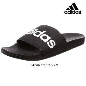 ADILETTE CF LINER アディレッタ adidas adidas アディダス B42207 メンズスポーツサンダル スポーツサンダル 男性 メンズ サンダル ビーチサンダル シャワーサンダル ブラック 黒 ロゴ 23.5cm 24.5cm 25.5cm 26.5cm 27.5cm