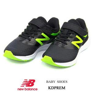 ニューバランス ベビー キッズ スニーカー ランニングシューズ NEW BALANCE キッズプレマス ブラック/ライムKDPREM-WI ベルクロマジック 靴 ブランド ギフト プレゼント