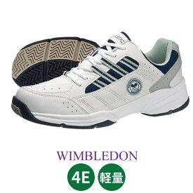 ウインブルドン メンズ スニーカー WIMBLEDON WM052 ホワイトネイビー 4E コートタイプ テニス アサヒシューズ 靴 父の日 敬老の日 プレゼント ギフト