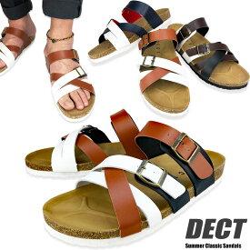 サンダル メンズ メンズサンダル サボサンダル コンフォートサンダル サボ おしゃれ 大きいサイズ DECT ブランド オフィス スポーツ かかと アウトドア 楽ちん ベルト調節 軽量 柔らかい ビルケンタイプ メンズ靴 紳士靴 あす楽 送料無料 一部地域除く 靴靴パワー 654