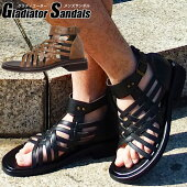 あす楽税込メンズグラディエーターサンダルスタイリッシュ夏メンズサンダルおしゃれ165ブラック黒2カラー/靴靴パワー