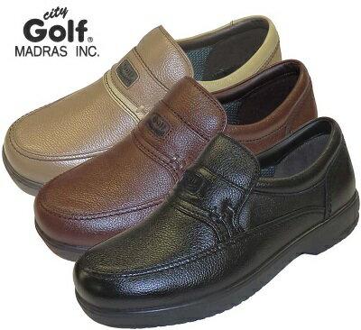 ☆送料無料☆【city Golf】メンズ マドラスシティゴルフ スリッポン 幅広 GF901 4Eモデル カジュアル ビジネス 普段履き