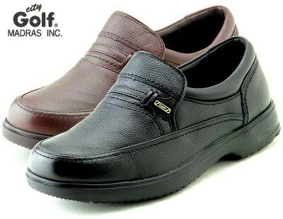 【city Golf】メンズ マドラスシティゴルフ スリッポン 幅広 GF902 4Eモデル カジュアル ビジネス 普段履き