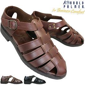 【全商品ポイント5倍⇒11/26(火)1:59迄】 AP6621 ARNOLD PALMER アーノルドパーマー ダークブラウン ブラック メンズ 本革 ドライビング サンダル 亀サンダル カメサンダル AP-6621 靴