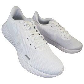 ナイキ NIKE BQ3204-103 レボリューション 5 ホワイト REVOLUTION 5 メンズ ランニングシューズ スニーカー 白スニーカー 通学スニーカー 白スクールシューズ 通学靴 白靴 BQ3204 サイドリフレクター付き