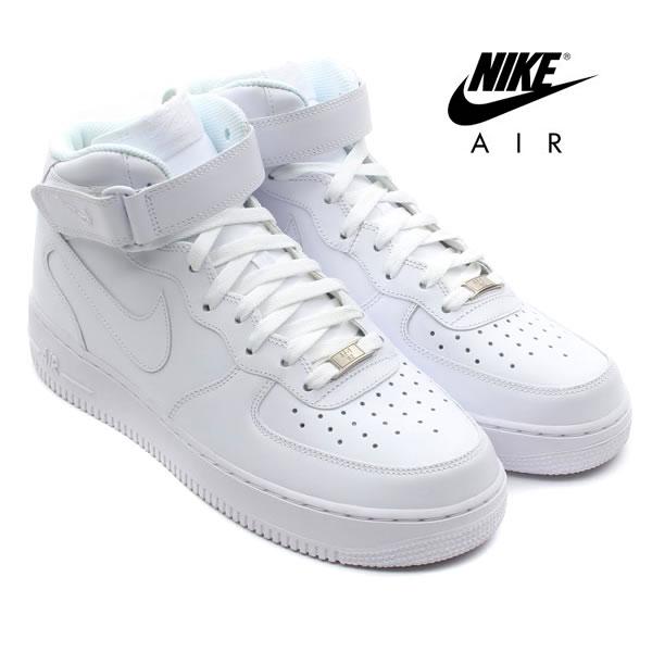 限定【正規品】NIKE AIR FORCE 1 MID ナイキ エアフォース1 ミッド ウィメンズ ホワイト レディース(366731-100)