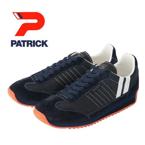 【美麗な大人カラー!】PATRICK パトリック メンズ レディース スニーカー 靴 マラソン MARATHON B.SWN ブラックスワン ネイビー 女性用 男性用(94051)