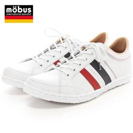 【シンプルな大人スニーカー】mobus HAREN モーブス ハーレン スニーカー メンズ レディース ホワイト/フランス シューズ 靴 (M1413T-17FR)