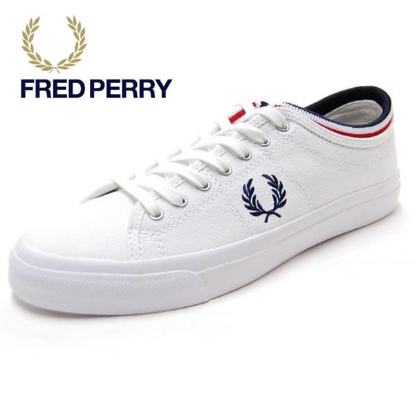 人気沸騰!!【国内正規品】FRED PERRY KENDRICK TIPPED CUFF CANVAS フレッドペリー ケンドリック チップド カフ キャンバス ホワイト スニーカー 靴 レディース メンズ (B5210U-100)