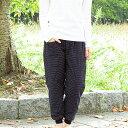 女性用キルティングもんぺ ドビー織<日本製久留米産>