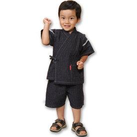 子供甚平 男の子 久留米ちぢみ織文人柄 日本製 90・100・110・120・130 男児用