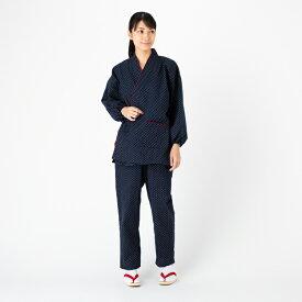 パンツのサイズが選べる婦人用作務衣 久留米織女性用作務衣 パンツのサイズが選べる 部屋着 婦人用 和装 作業着 制服 レディース 母の日 日本製 久留米産