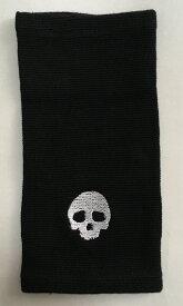サポーター 肘 2本 アームカバー スカル 刺繍 ドクロ オラオラ 悪羅悪羅 系 刺青 タトゥ 墨 隠し