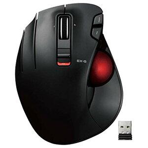 エレコム マウス ワイヤレス トラックボール (親指) 左手専用 赤玉 6ボタン チルト機能(左右スクロール) ゲーミンググレード光学セン