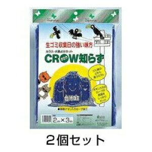 ねこよけ 【カラス・犬猫よけネット 2×3m 2個セット】 ゴミ捨て場 対策