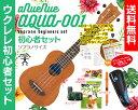 【送料無料】aNueNue Aqua-OO1ソプラノ ウクレレ 初心者セットウクレレケース、教則本(DVD付)、ウクレレ チューナー…