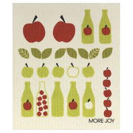 【ネコポス対応】【MORE JOY】モアジョイ スポンジワイプ アップルジュース【1枚】No.3811