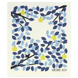 【ネコポス対応】【MORE JOY】モアジョイ スポンジワイプ ウィンターアップルツリー 【1枚】No4801