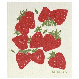 【ネコポス対応】【MORE JOY】モアジョイ スポンジワイプ ストロベリーズ【1枚】No.6911
