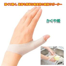 親指 付け根 サポーター かぐや姫 腱鞘炎、母指CM関節症、ばね指などにも 二重構造でMP関節をピンポイントに圧迫&制限 日本製