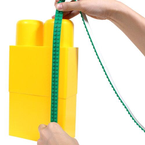 LEGO互換性シリコンブロックテープ2ドット切れる曲がる貼れる巾1.56cm×厚0.4cm×長1mWWD−2DSBT商用利用可能