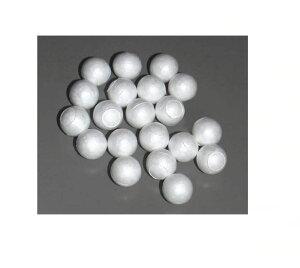 J発泡スチロール球 真球 30ミリ/50ヶ入り中心に貫通穴があります