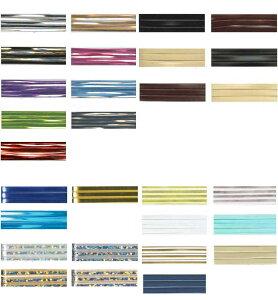 廃番色 在庫限り110番と122番 ラメルヘンテープ3mm巾×50mカセ巻塩化ビニル99% ポリエステル1% スリット糸に使用