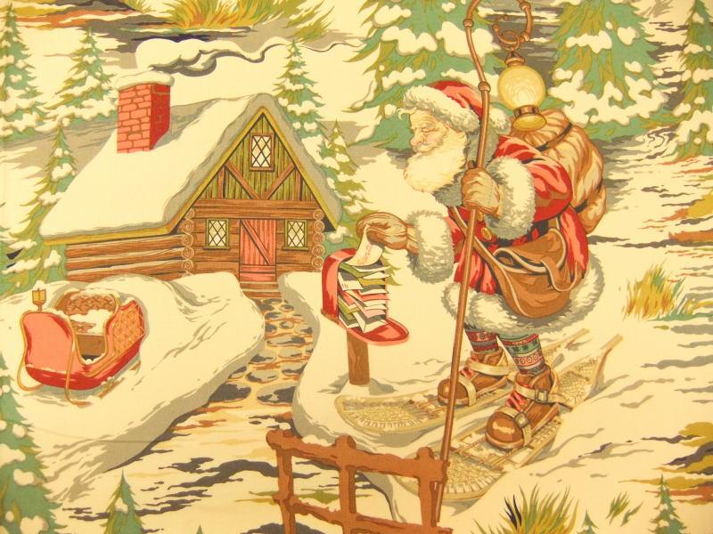 メーカー完売 生地 布 輸入 USAコットン Christmas Time Santa's lodge クリスマスタイム サンタズロッジ 7800B THE ALEXANDER HENRY FABRICS アレキサンダーヘンリー ファブリックス 商用利用可能