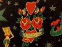 生地 布 USAコットン tattoo タトゥー 6236Bブラック アレキサンダーヘンリー ファブリックス ドクロ、ヘビ、バラ、…